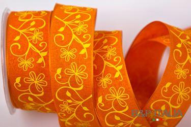 Immagine di Nastro h.40mm, 20m BERENICE arancio/giallo