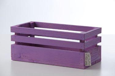 Immagine di Cassetta legno lilla, 38x28xh.11cm