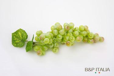 Immagine di Grappolo d'uva gialla h.29 cm,foglie verdi,d.chicco 2cm