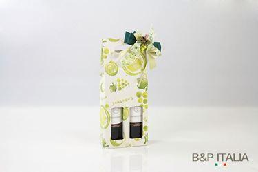 Immagine di Scatola 2 Bottiglie c/f 16x8xh.39,5cmPROFUMO D'UVA, verde, steso