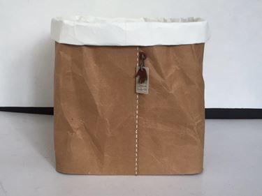 Picture of Contenitore ecosostenibile, waterproof, bianco,c/risvolto, 37x37xh.29cm
