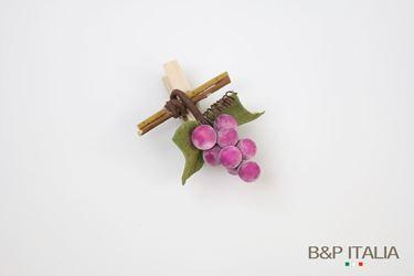 Immagine di Clip uva, bordeaux, h.7 cm