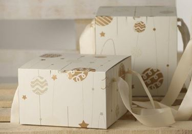 Picture of Box 24,5x24,5x15h, HAPPY CHRISTMAS
