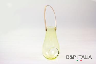 Picture of Lanterna porta-tealight in vetro verde chiaro D14.5xH25cm.