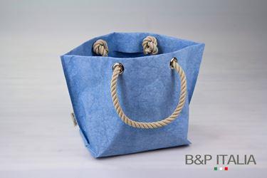 Picture of Borsa BSQ30, cm25x20xh.28, FIBRA CELLULOSA COLOR, azzurro, c/m