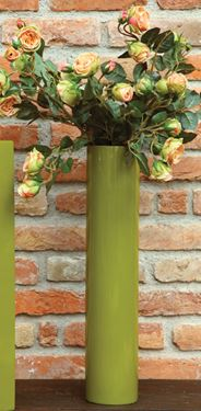 Picture of S/4 Vasi tondi poliresina verde lucido cm12xh61,12xh41,12xh26,12xh16