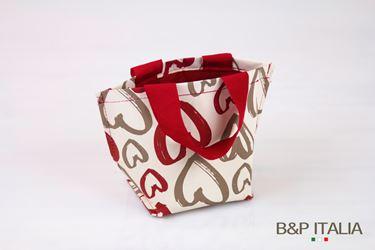 Picture of Borsa,Khartex+PPV,h16,5x11,5x10, ART LOVE, rosso/tortora, c/m