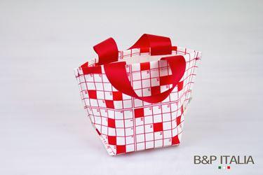 Picture of Borsa,Khartex+PPV,h16,5x11,5x10, CRUCIVERBA, bianco/rosso, c/m