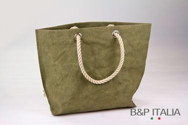 Immagine di Borsa BSQ30, cm25x20xh.28, FIBRA CELLULOSA COLOR,verde oliva, c/m