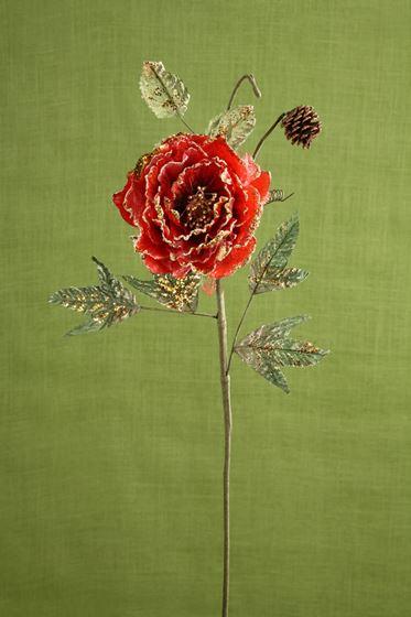 Picture of Ramo fiore x1 rosso,  h.cm68