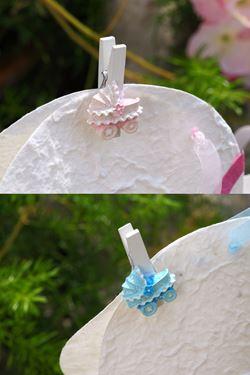 Immagine di S/10 Mollette culle,rosa/azzurro, poliresina, dim.4.5cm