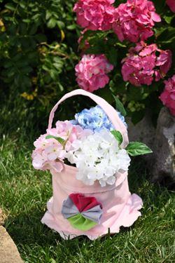 Picture of Cestello con manico+int.plast,rosa, tessuto,D13xH15cm