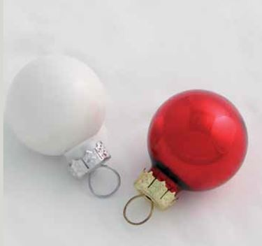 Picture of Box 144 sfere bianco/rosso, diam.mm20