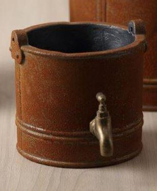 Picture of Vaso RUBINETTO, cemento, marrone, d.12xh.12,5cm