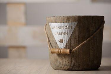 Picture of Vaso MAGNIFIQUE, ceramica, marrone, d.15,5xh.15,5cm