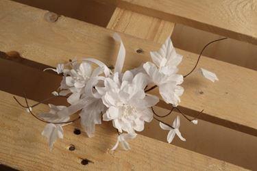 Picture of Pick tre fiori e nastro, bianco, h.33cm