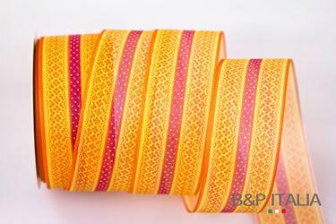 Immagine di Nastro ANASTASIA, fuxia/arancio, h.40mm,20m