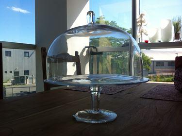 Picture of Alzata con coperchio in vetro  BRIENNE, trasparente, D30H28cm