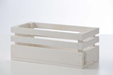 Immagine di Cassetta legno bianco, 24x11xh.11cm