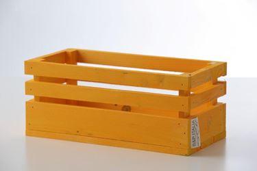 Immagine di Cassetta legno giallo, 38x28xh.11cm