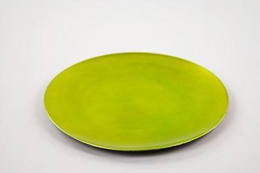 Picture of Piatto tondo di plastica verde  32.8x32.8xh1.8