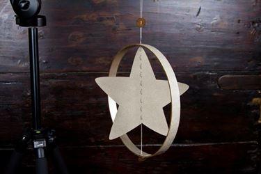 Picture of Pendente stella nel cerchio, ecosostenibile, grigio, diametro 30