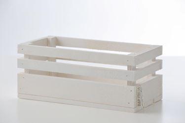 Immagine di Cassetta legno bianco, 30x15xh.15cm