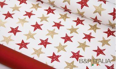 Picture of Bobina, Perlato,  h.cm100, STARS, bordeaux/oro