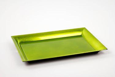 Picture of Piatto rettangolare di plastica verde 25x35xh.1.8