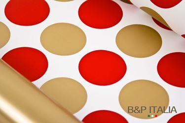 Immagine di Bobina, Perlato,  h.cm100, BOLLE, rosso/oro
