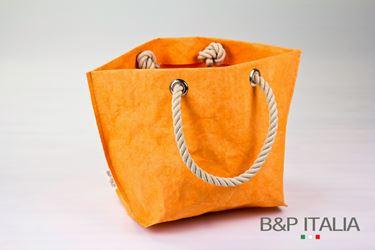 Picture of Borsa BSQ30, cm25x20xh.28, FIBRA CELLULOSA COLOR, arancio, c/m