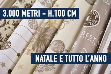 Picture of BOBINE STOCK - 3000 METRI BOBINE NATALE E TUTTO L'ANNO ASSORTITE H. 100 CM