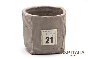 Immagine di Contenitore grande quadrato,tortora, porcellana,14x14xH12.5cm