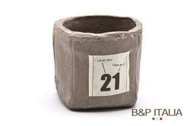 Immagine di Contenitore piccolo quadrato,tortora, porcellana,11x11xH9.5cm
