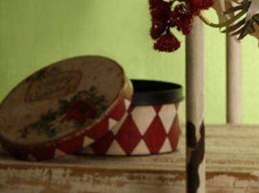Immagine di S/2 Scatole tonde Stella di Natale