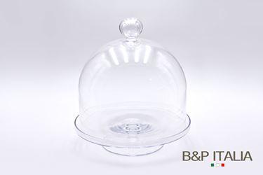 Picture of Alzata vetro JORAH, trasparente,  baseD33H8cm, campanaD32xH30cm