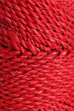 Immagine di Cordino ABACA 100gr, +/- 45mt rosso