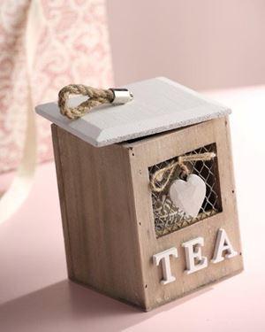 Picture of Scatola TEA, legno, naturale, 12x12xH16cm