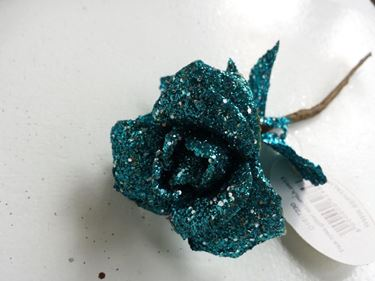 Picture of Pick rosa glitter azzurro,h.cm13