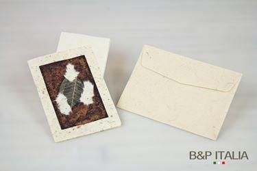 Picture of Biglietto cm13x20, 20 pz AUTUMN marrone