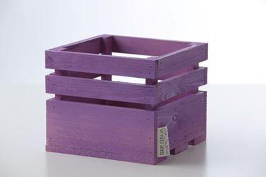 Picture of Cubo legno lilla, 11x11xh.11cm