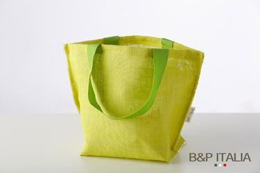 Immagine di Borsa juta verde h.28,5x27x22,PPL interno, manico vintage