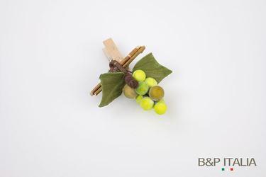 Immagine di Clip uva, verde, h.7 cm