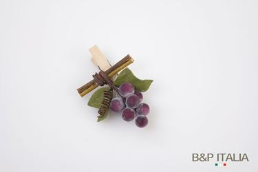 Immagine di Clip uva, nero, h.7 cm