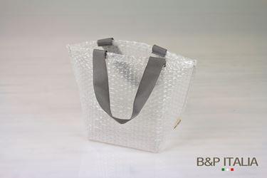 Picture of Borsa,PLURIBALL,h16,5x11,5x10, manico grigio