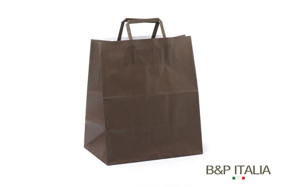 Picture of Shopper 28x17xh.32 90gr BioKraft FOOD AVANA piattina FLAT LARGE