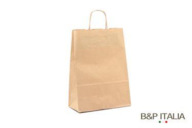 Immagine di Shopper 18x07xh.24 90gr Kraft SEALING avana cordino