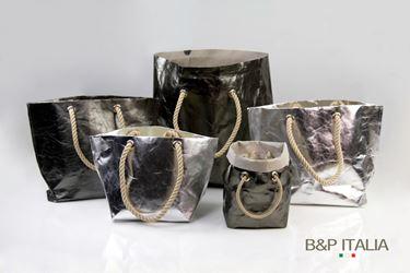 Picture of Borsa BSQ30 FIBRA SHINE piombo retro grigio 18x24xh26,c/occ.e man