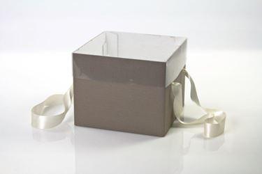 Picture of Cubo box cartone 25x25xh.20 tortora, steso, nastro a parte