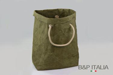 """Immagine di SACCA """"Elizabeth"""" fibra cellulosa Color, verde oliva, cm32x40xh.60"""